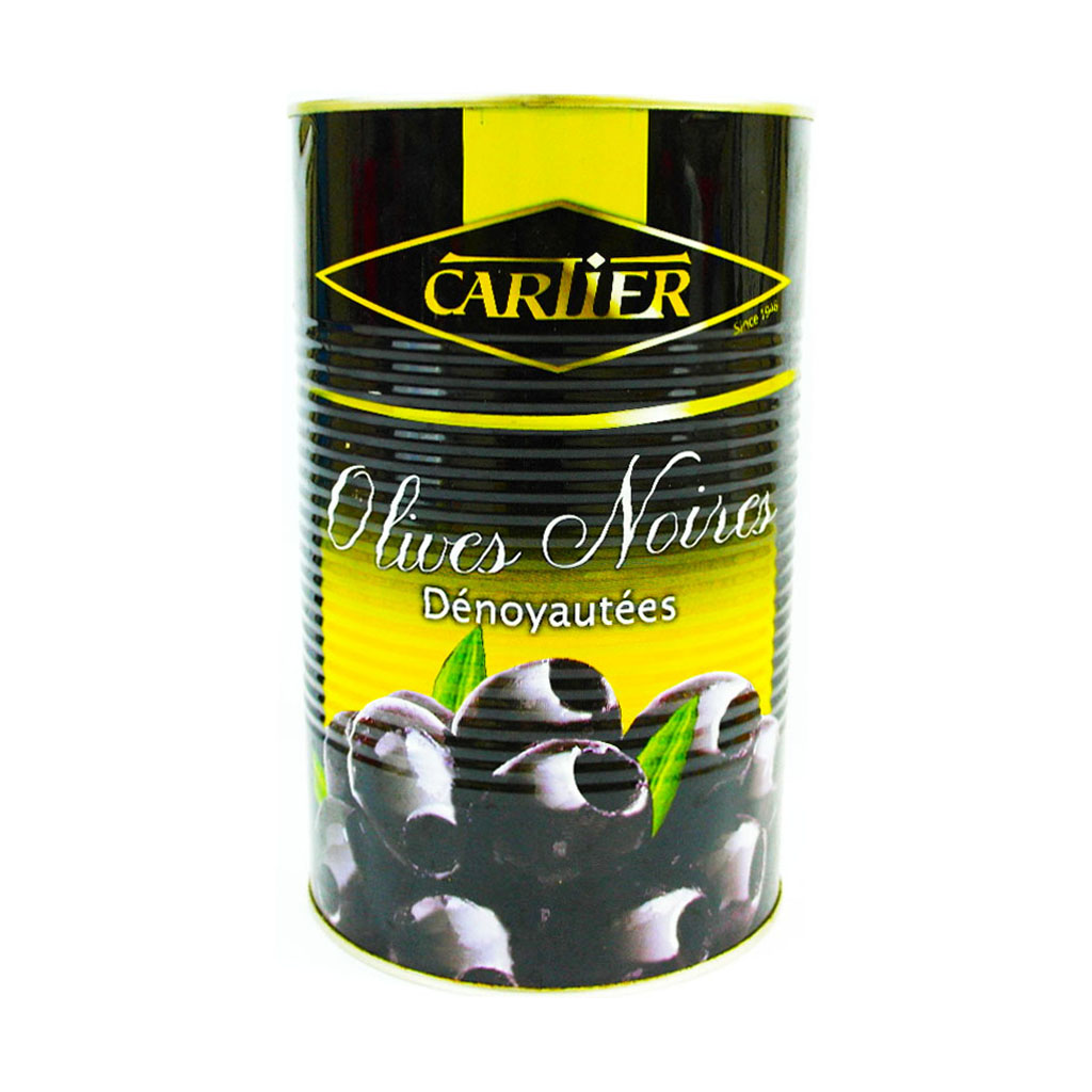 Cartier Pitted Black Olives 850g