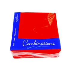 Combination Red Napkins 40cm 525g