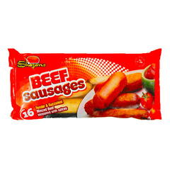 Shazans 16 Beef Sausages 840g