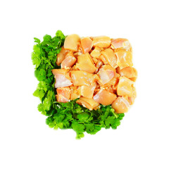 Halal Chicken Boneless Thigh small pieces 600g