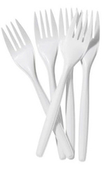 Plastic/ Disposable Forks White 100 Pack