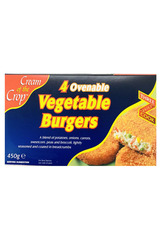 Cream Of The Crop 4 Ovenable Vegetable Burgers 450g