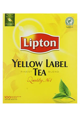 Lipton Yellow Label Tea 100 Tea Bags 200g
