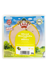 Zaad Sliced Mortadella (Chicken & Turkey) With Olives 200g