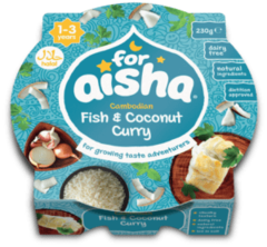 For Aisha Cambodian Fish & Coconut Curry 1-3 Years 230g