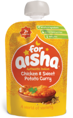 For Aisha Chicken & Sweet Potato Curry 7+ Months 130g