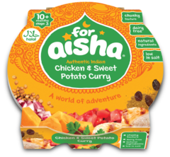 For Aisha Authentic Indian Chicken & Sweet Potato Curry 10+ Months 190g