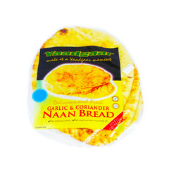 Yaadgaar 3 Delicious And Fresh Garlic And Coriander Naan Bread 250g