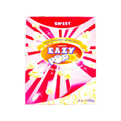 Eazy Pop Sweet Microwave Pop Corn 3 Packs 3x100g